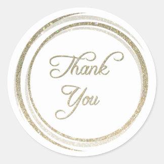 Glitter-Kreise danken Ihnen Aufkleber
