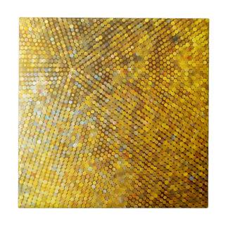Glittery Goldmosaik Kleine Quadratische Fliese