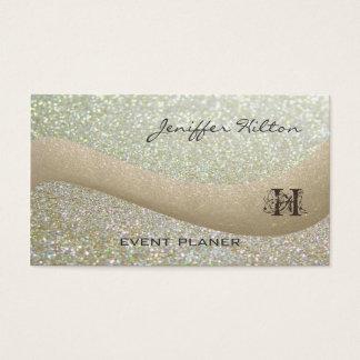 Glittery Monogramm des beruflichen eleganten Chic Visitenkarten