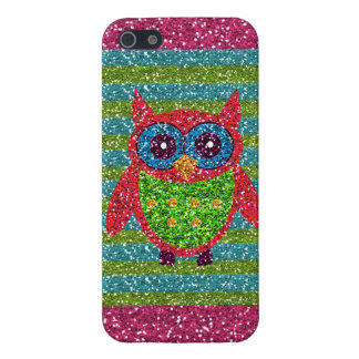 Glitzer-Eule aquamariner rosa grüner Bling iPhone Hülle Fürs iPhone 5