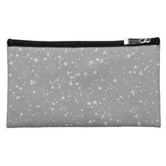 Glitzer Stars4 - Silber Makeup-Tasche