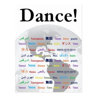 Globaler Tanz - Tanz in vielen Sprachen Postkarte