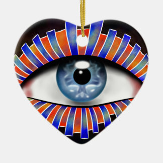 Globellium V1 - ein Auge auf Ihnen Keramik Herz-Ornament