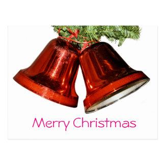 Glocken der frohen Weihnachten Postkarte