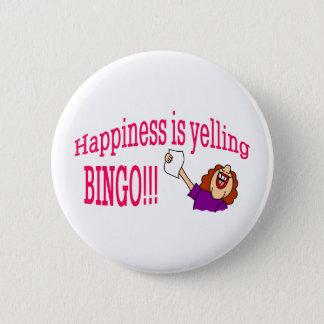 Glück-Bingo Runder Button 5,7 Cm