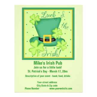 Glück der irischen 21,6 x 27,9 cm flyer