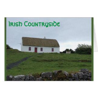 Glück der irischen Landschaft in Irland-Karte Grußkarte