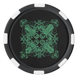Glück-irischer Poker Chips Set