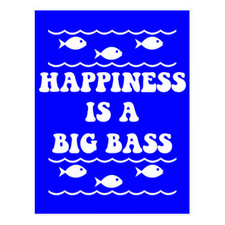 Glück ist ein großer Baß Postkarten