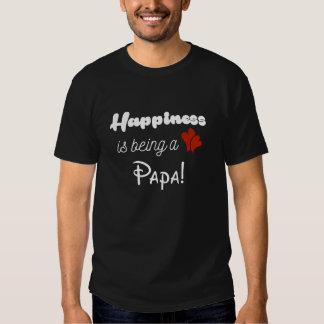 Glück ist ein Papa T-shirts