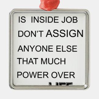 Glück ist im Insider-Job zuweist jedermann EL Silbernes Ornament