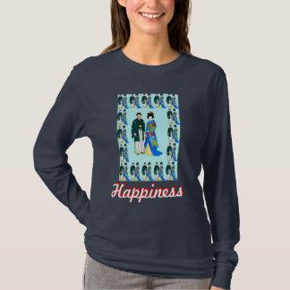 Glück - japanisches Paar T-Shirt
