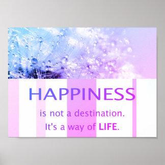 Glück schöne Sprüche Sprichwort Zitate Pusteblume Poster