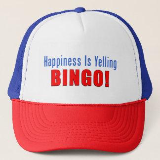 Glück schreit Bingo-Fernlastfahrer-Hut Truckerkappe