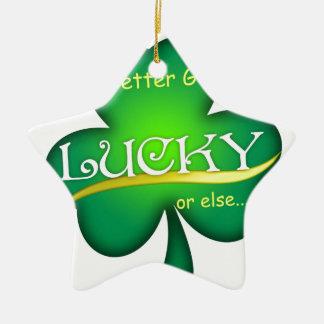 Glücklich für Tag St. Patricks Keramik Stern-Ornament