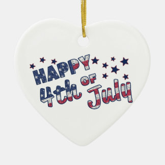 Glücklich Juli 4. Keramik Herz-Ornament