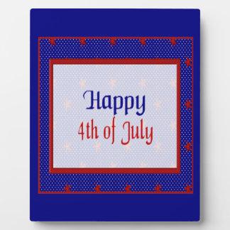 Glücklich spielt Juli 4., Rot auf Blauem und Fotoplatte