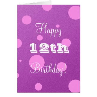 Glückliche 12. Geburtstags-Karte für Mädchen Grußkarte