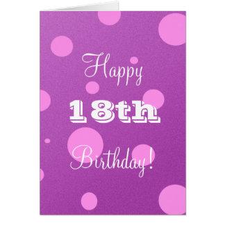 Glückliche 18. Geburtstags-Karte für Mädchen Grußkarte