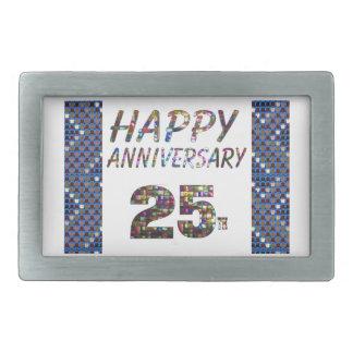 Glückliche 25 25. Jahrestagsgeschenke Rechteckige Gürtelschnallen