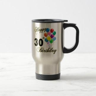 Glückliche 30. Geburtstags-Geschenke und Reisebecher