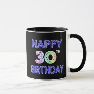 Glückliche 30. Geburtstags-Tasse im Tasse