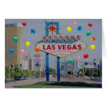 Glückliche 50. Geburtstags-Karte Las Vegass im Ros