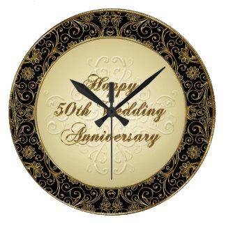 Glückliche 50. Hochzeitstag-Uhr Uhren
