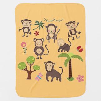 Glückliche Affen Babydecke