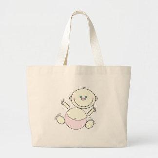 Glückliche Baby-Tasche Jumbo Stoffbeutel