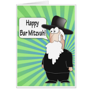 Glückliche Bar Mitzvah Grußkarte - lustiger
