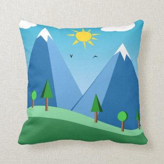 Glückliche Berge und Baum-Szenen-Wurfs-Kissen Kissen