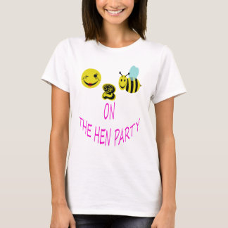 glückliche Biene 2 auf dem Henne-Party T-Shirt