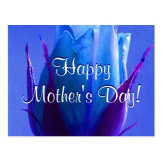 Glückliche Blau-Rose der Mutter Tages