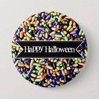 Glückliche bunte Süßigkeit Halloweens besprüht Runder Button 7,6 Cm