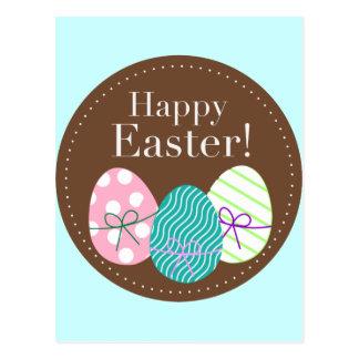 Glückliche dreifache Eier Ostern Postkarte