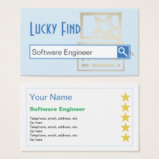 """""""Glückliche Entdeckungs-"""" Software Engineer Visitenkarte"""