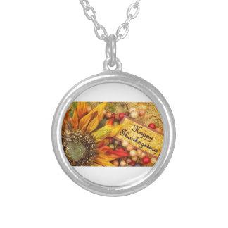 Glückliche Erntedank-Sonnenblume Versilberte Kette