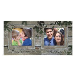 Glückliche Foto-Karte der Feiertags-Familien-2 - Bildkarten
