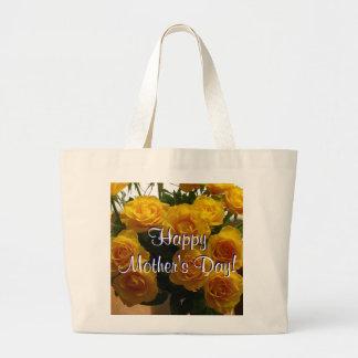 Glückliche Gelb-Rosen der Mutter Tagesi Tragetaschen