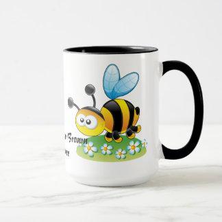 Glückliche gelbes Brown-Hummel-Tasse Tasse