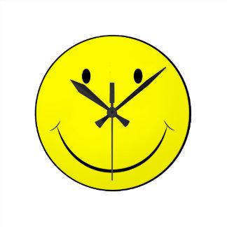 Glückliche Gesichts-Uhr Runde Wanduhr