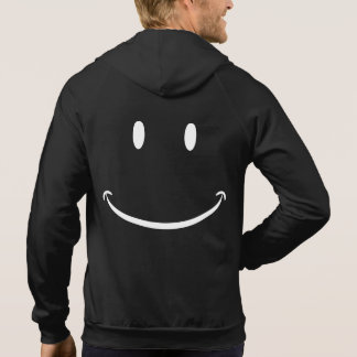 Glückliche Gesichts-Zipweste Hoodie