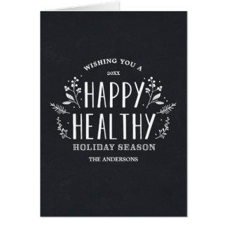 Glückliche gesunde Feiertags-Gruß-Karte des Karte