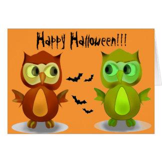 Glückliche Halloween-Gruß-Karten Karte