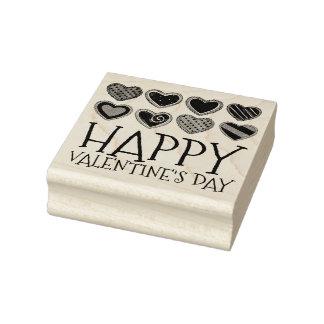 Glückliche Herz-Zuckerplätzchen-Briefmarke des Gummistempel