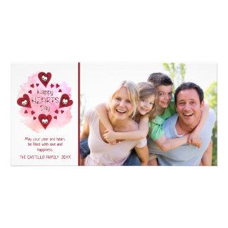 GLÜCKLICHE HERZEN TAG, Valentinstag Karte