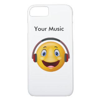 Glückliche hörende Musik iPhone 7 Hülle
