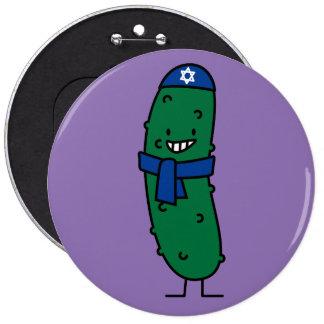 Glückliche jüdische Essiggurken-Essiggurken Runder Button 15,3 Cm