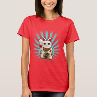 Glückliche Katze (Maneki-neko) T-Shirt